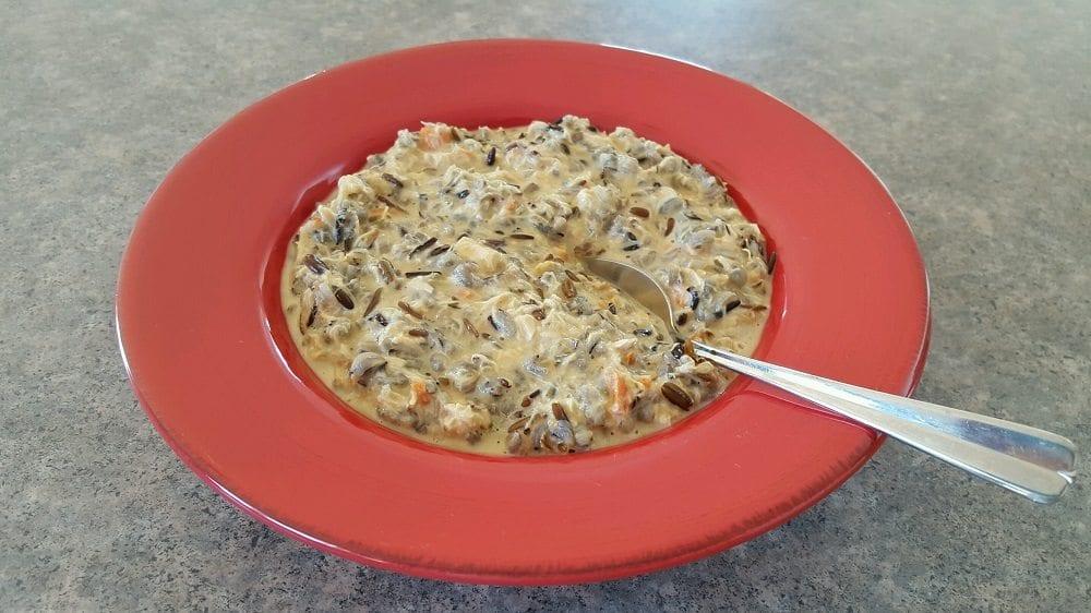 Chicken wildrice soup