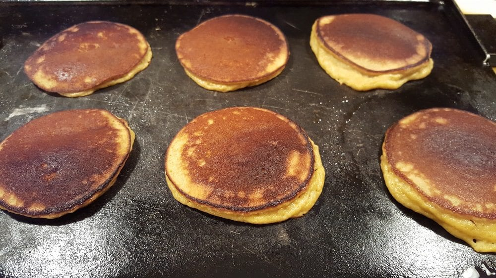 Pumpkin Pancakes on griddle two