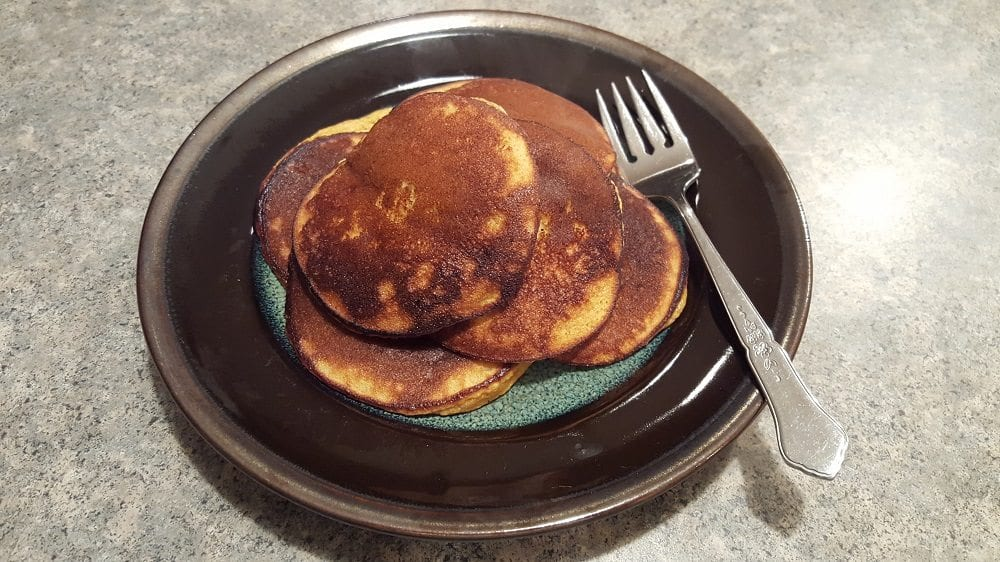 Pumpkin Pancakes on the plate