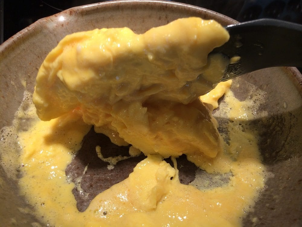 Frying Scrambled Eggs