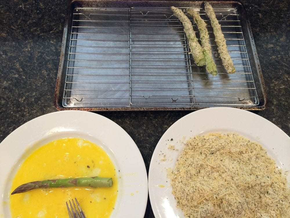Asparagus Dipping Sticks Prep