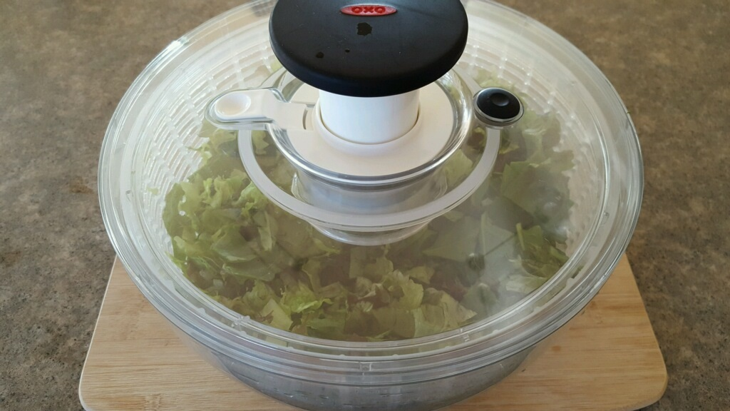 Salad Spinner with lid on
