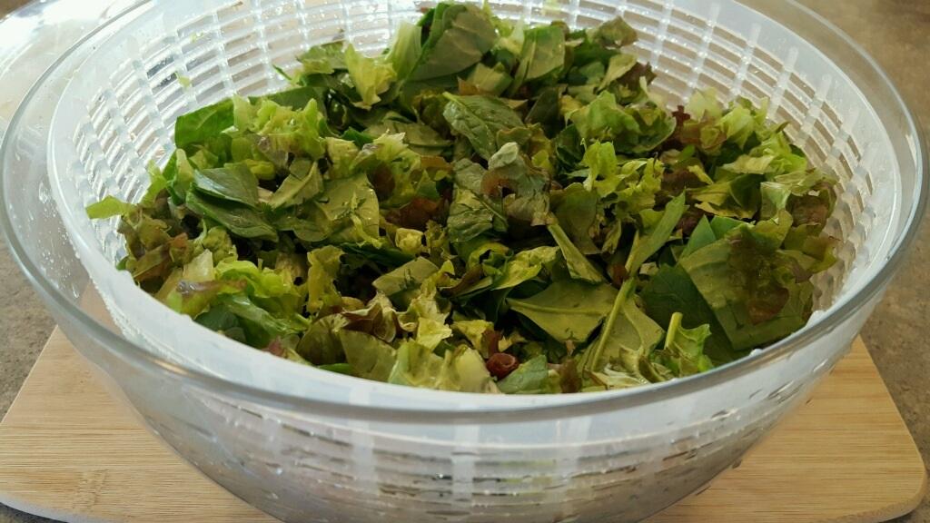 Salad in spinner