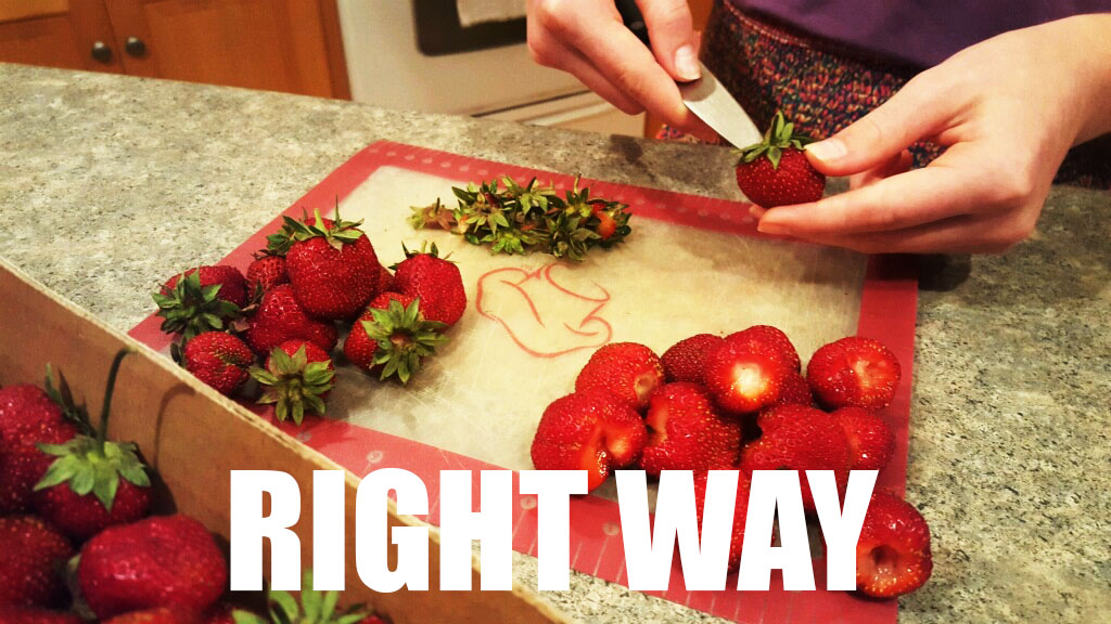 The Right Way to Stem Strawberries