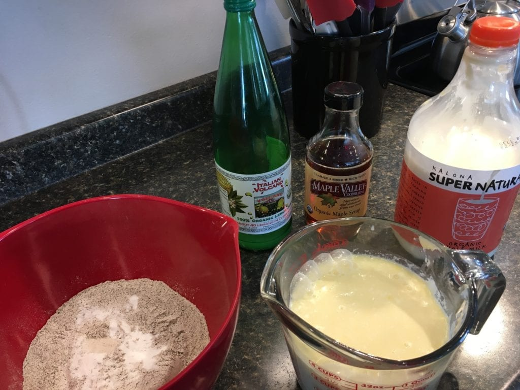 Ingredients for gluten free pancakes