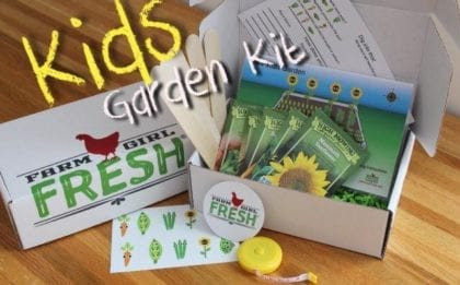 Kids garden to table kit