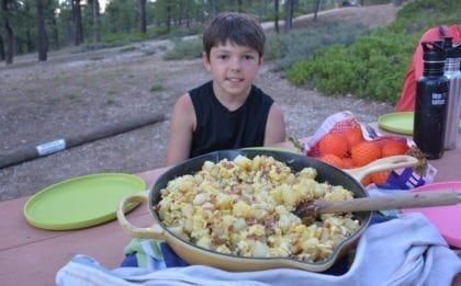 Eggs, Potatoes & Onion Skillet