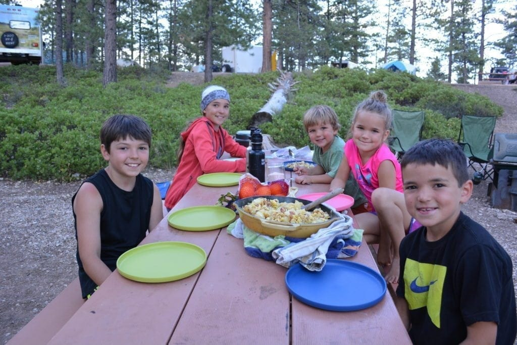 kids camping meal planning