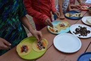 Camping tacos