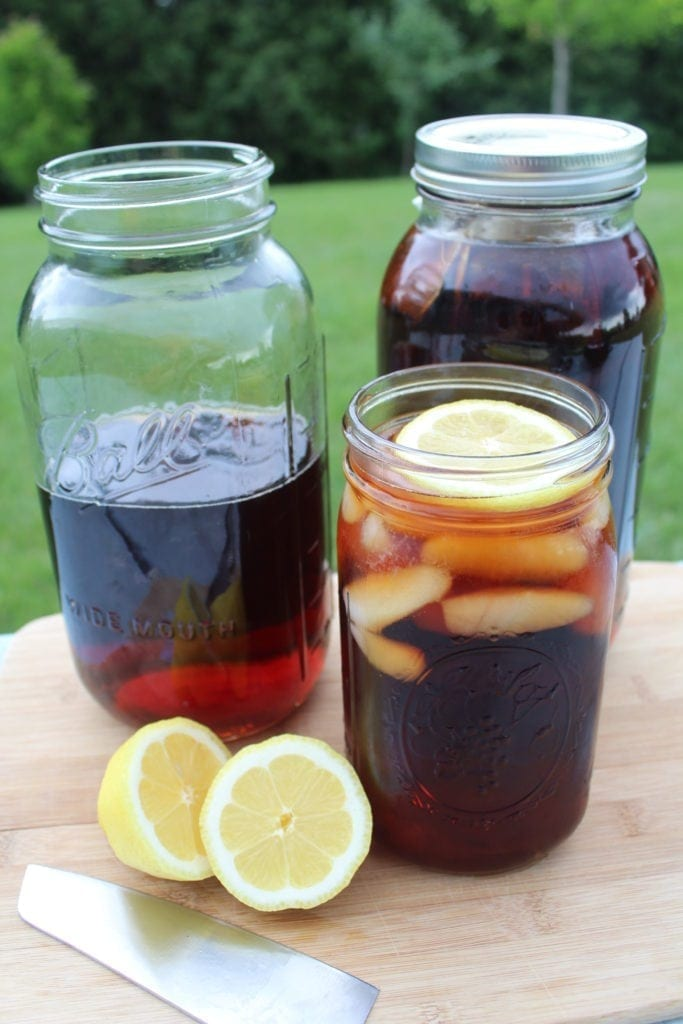 homemade iced sun tea