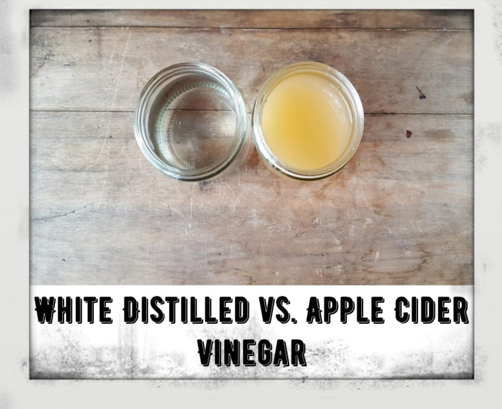 difference in vinegar